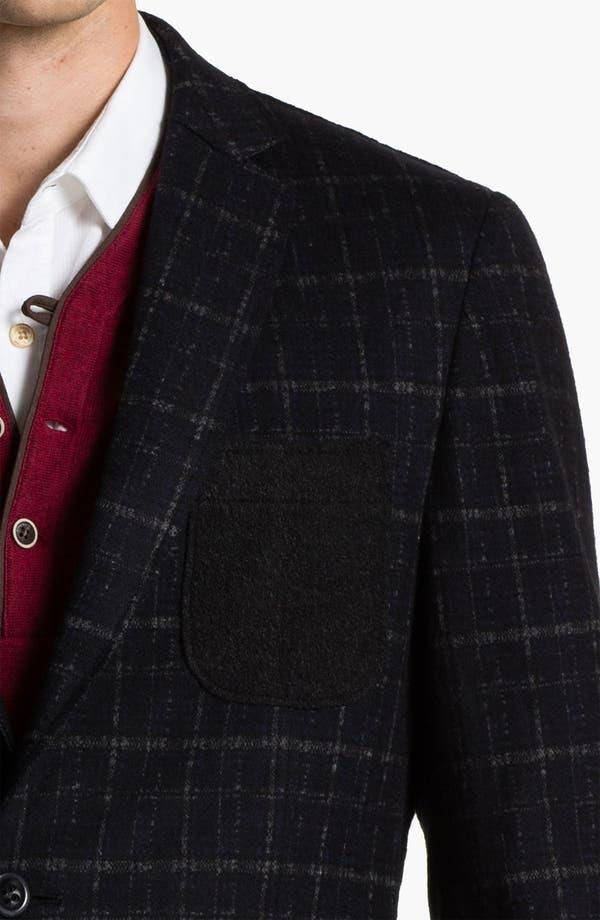 Alternate Image 3  - Natural Blue Plaid Wool Blend Sportcoat