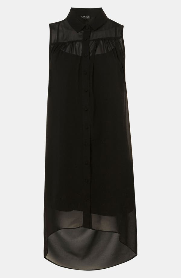 Main Image - Topshop Open Drape Back Shirtdress