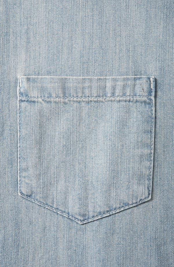Alternate Image 3  - Topshop Moto Plaid Sleeve Chambray Shirt
