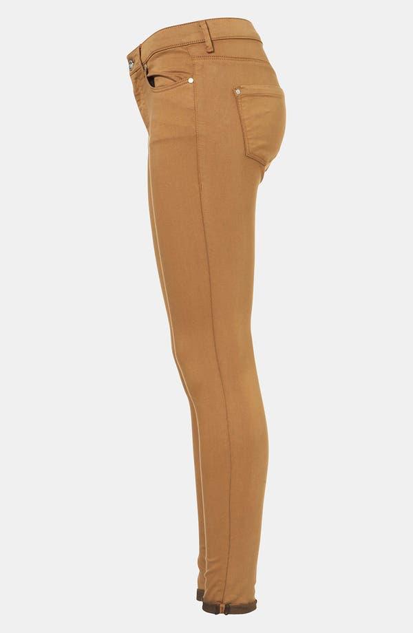 Alternate Image 4  - Topshop Moto 'Leigh' Skinny Jeans (Tobacco)