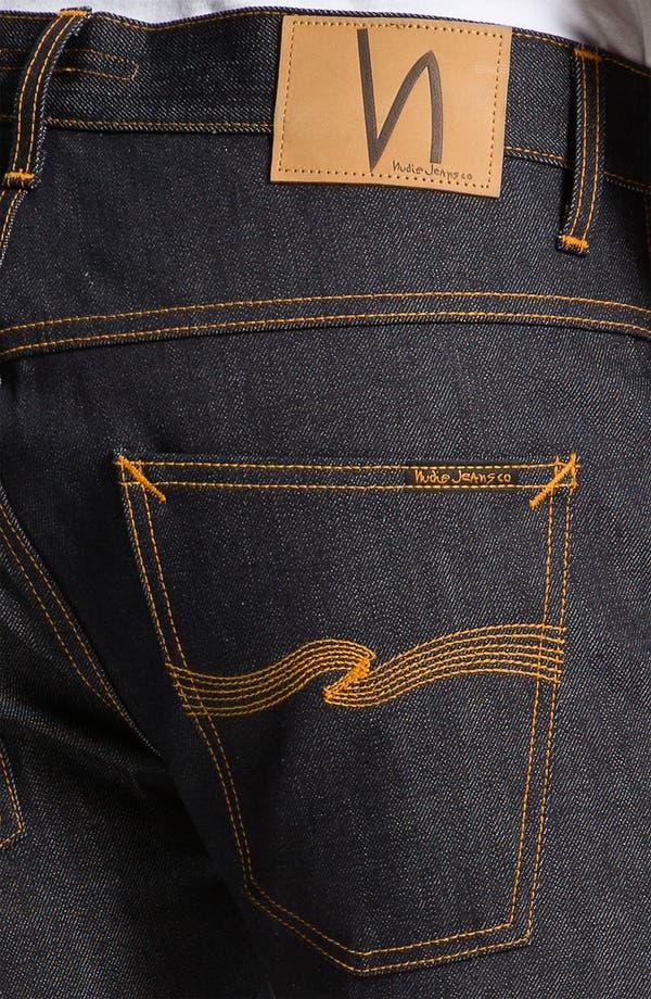 Alternate Image 4  - Nudie 'Hank Rey' Straight Leg Jeans (Dry Selvedge)
