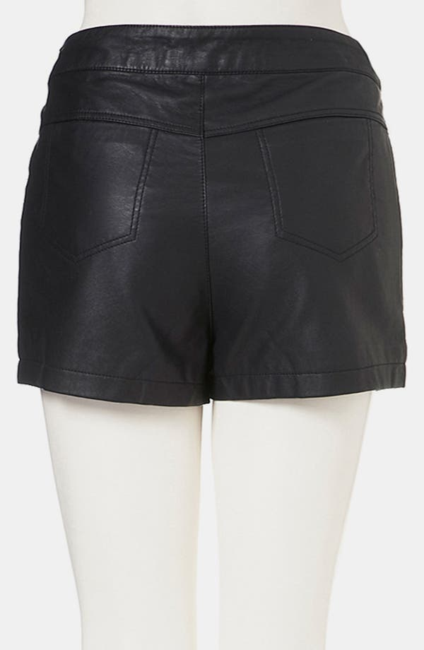 Alternate Image 2  - Topshop Faux Leather Shorts