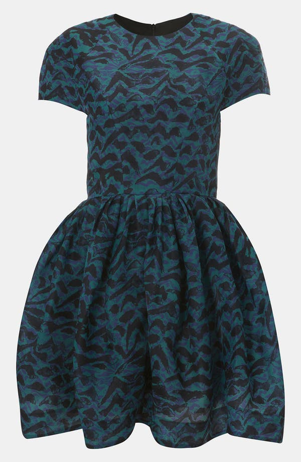 Main Image - Topshop Abstract Print Silk Tulip Dress