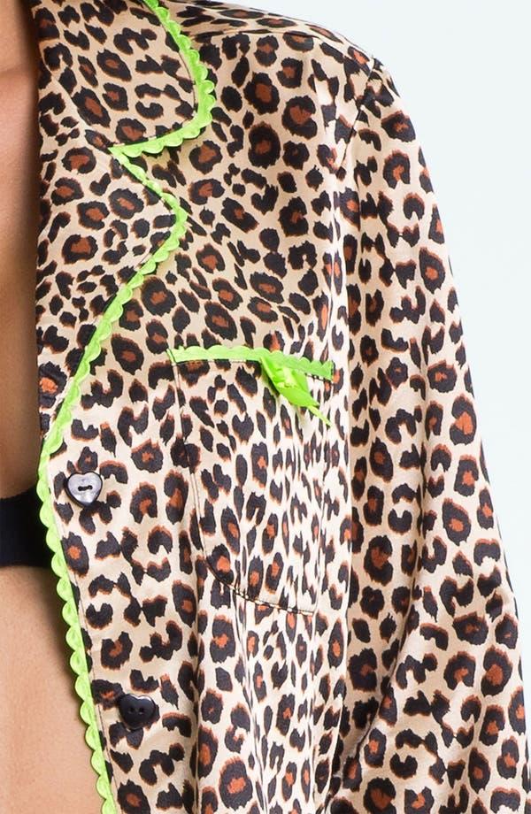 Alternate Image 3  - Betsey Johnson 'Cuddly Back Satin' Pajama Set