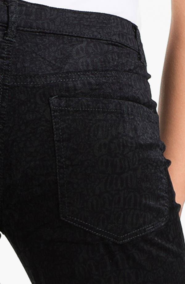 Alternate Image 3  - Liverpool Jeans Company 'Sadie' - Cheetah' Straight Leg Velveteen Jeans
