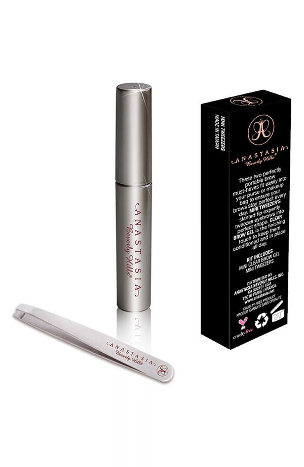 Alternate Image 1 Selected - Anastasia Beverly Hills 'Brow Prep' Tweezers & Gel Mini Duo