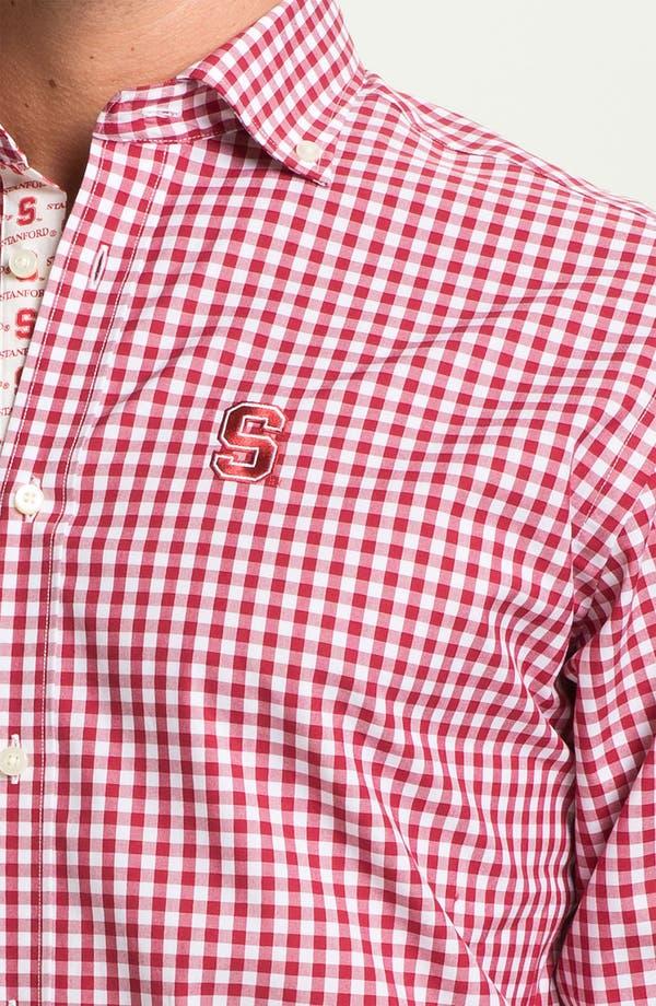Alternate Image 3  - Thomas Dean 'Stanford University' Traditional Fit Sport Shirt