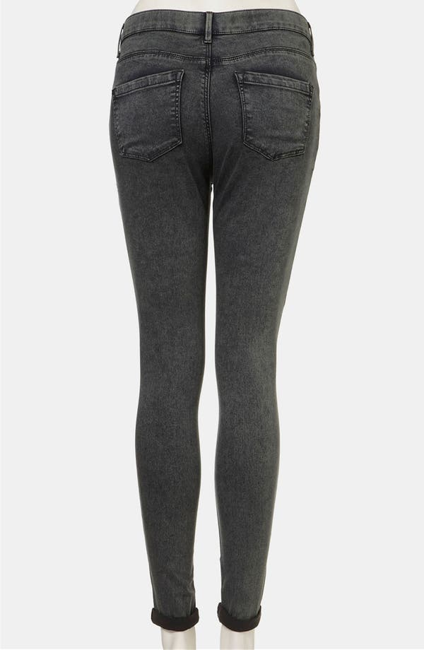 Alternate Image 2  - Topshop Moto 'Leigh' Acid Wash Skinny Jeans