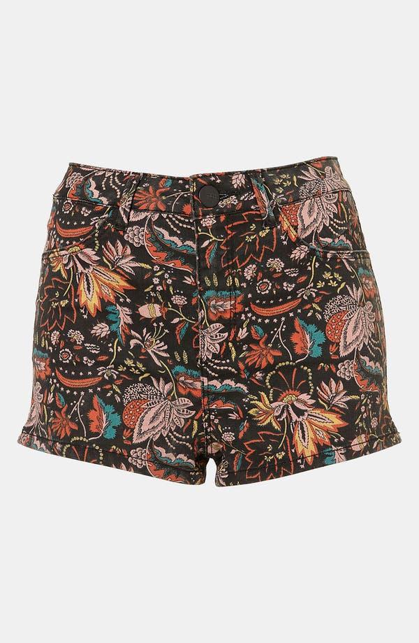 Main Image - Topshop Moto 'Scandi' Floral Shorts