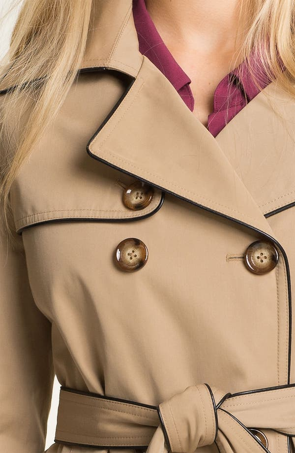 Alternate Image 3  - MICHAEL Michael Kors Piped Trench Coat with Detachable Liner