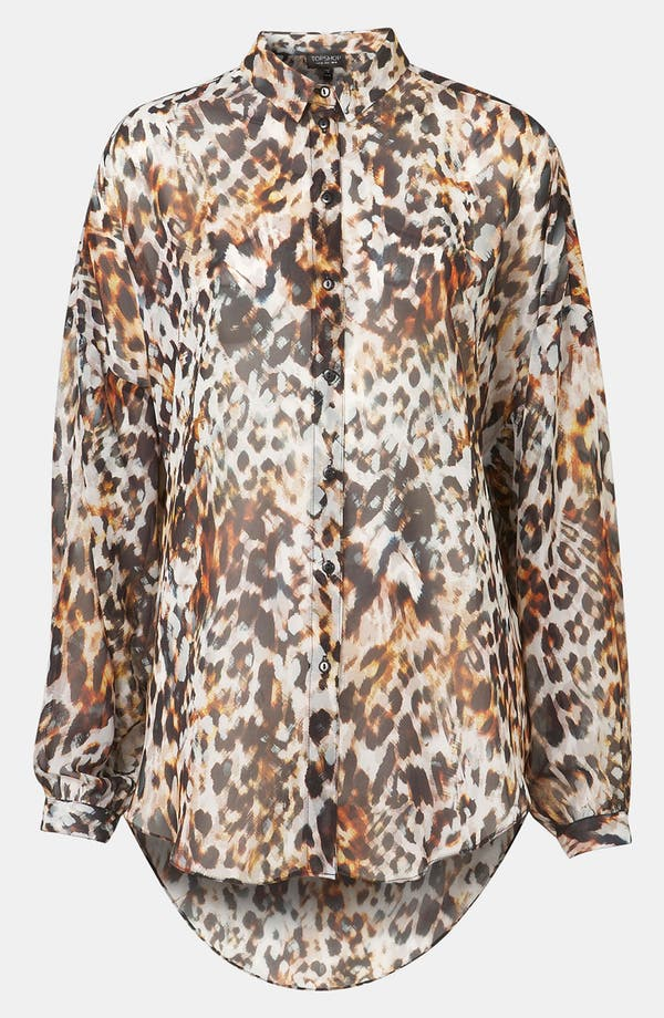 Alternate Image 1 Selected - Topshop Leopard Print Shirt