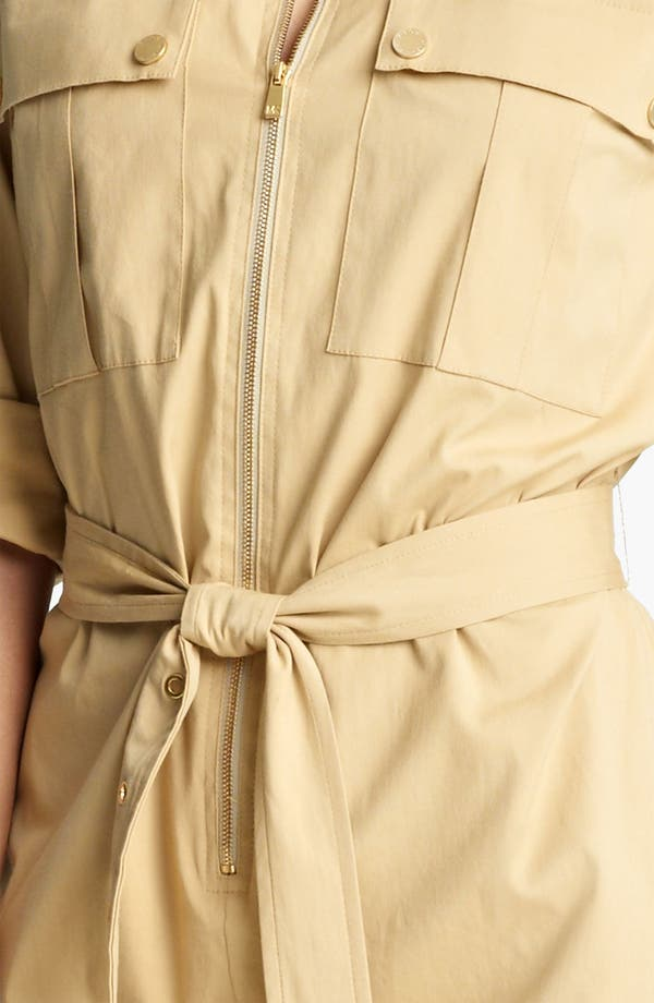 Alternate Image 3  - Michael Kors Stretch Poplin Shirtdress