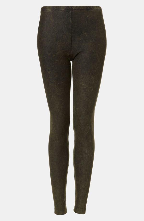 Alternate Image 1 Selected - Topshop Acid Wash Denim Leggings