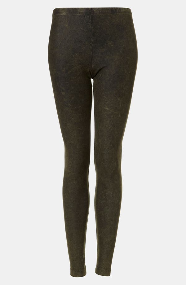 Main Image - Topshop Acid Wash Denim Leggings