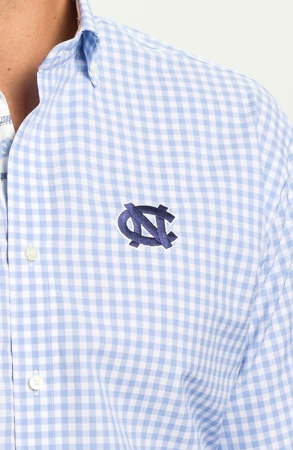 Alternate Image 3  - Thomas Dean 'University of North Carolina' Traditional Fit Sport Shirt