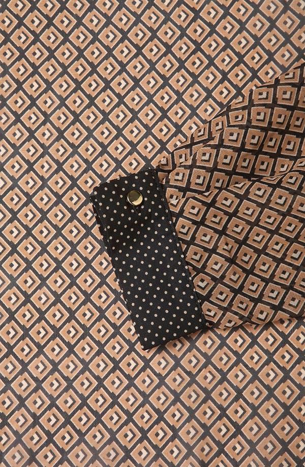 Alternate Image 3  - Topshop Mixed Print Tipped Collar Shirt