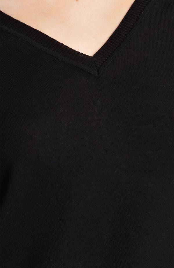 Alternate Image 3  - Moschino Cheap & Chic Rose Print Ruffled Hem Top