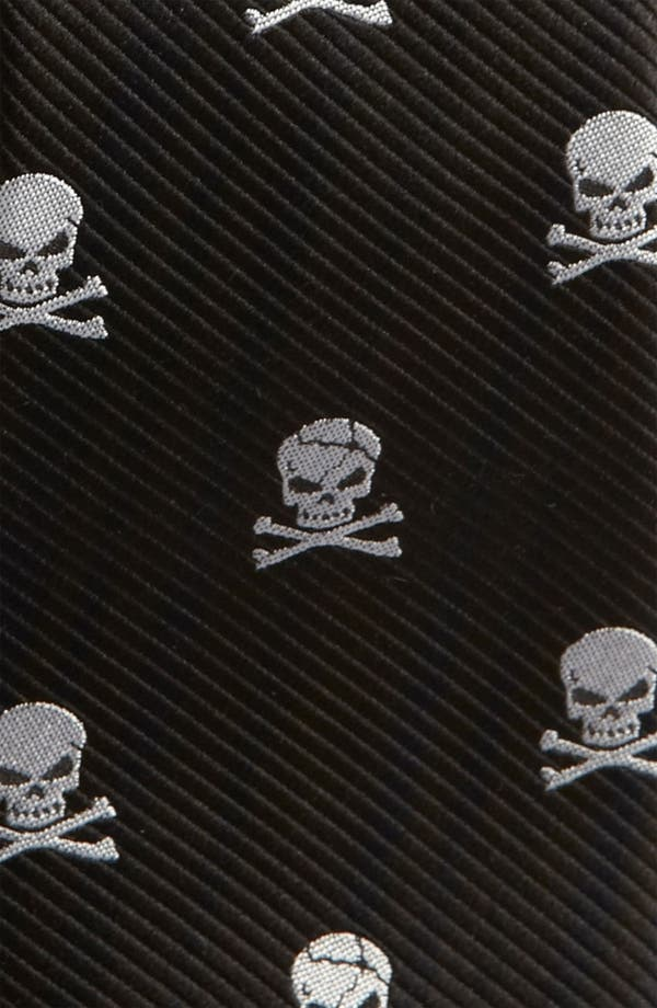Alternate Image 2  - The Tie Bar Silk Skull and Crossbones Tie (Online Only)