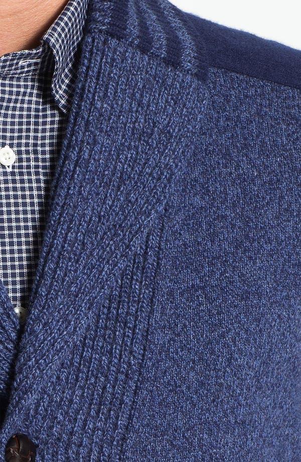 Alternate Image 3  - Façonnable Shawl Collar Wool Cardigan