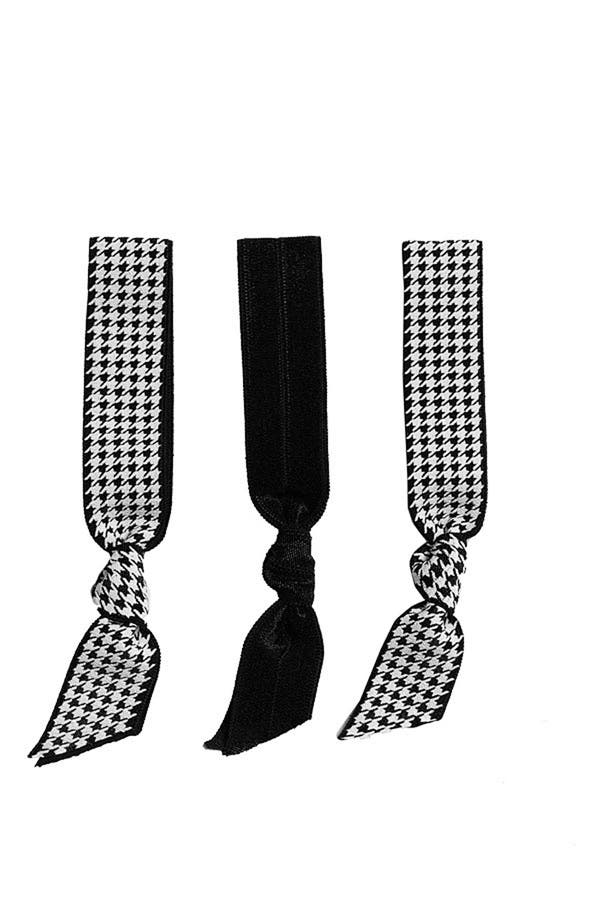 Alternate Image 1 Selected - Emi-Jay 'Houndstooth' Hair Ties (3-Pack)