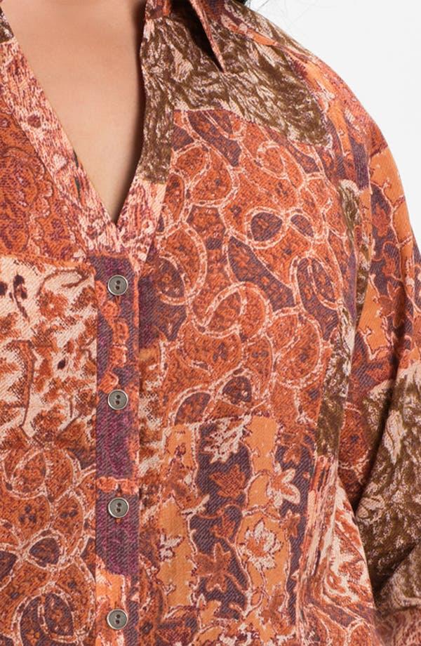 Alternate Image 3  - Lucky Brand 'Joan Patchwork' Blouse (Plus)