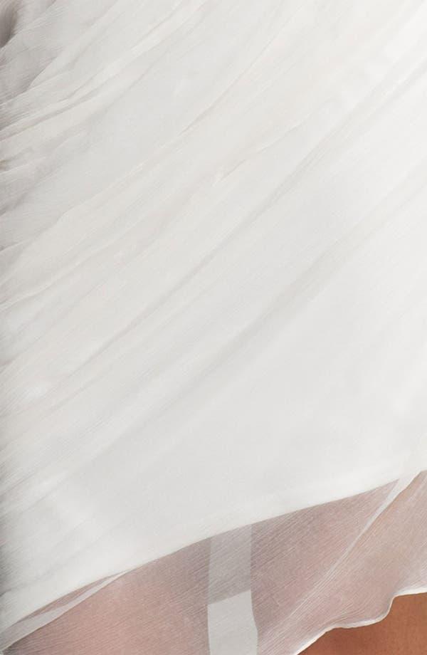 Alternate Image 3  - Tadashi Shoji One Shoulder Crinkle Chiffon Dress