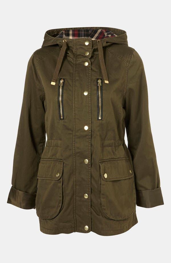 Alternate Image 1 Selected - Topshop Hooded Utility Jacket