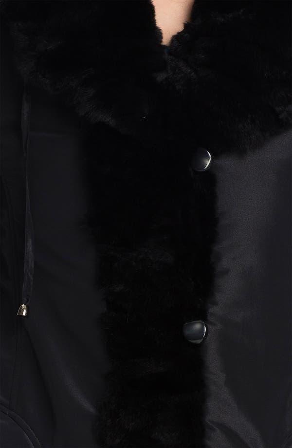 Alternate Image 4  - Jessica Wilde Storm Coat with Genuine Rabbit Fur