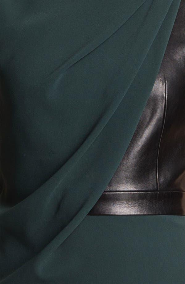Alternate Image 3  - Alexander Wang Crepe & Leather Dress