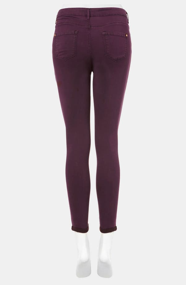 Alternate Image 2  - Topshop Moto 'Leigh' Skinny Jeans (Bordeaux)