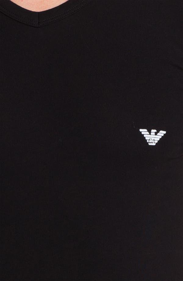Alternate Image 3  - Emporio Armani V-Neck Stretch Cotton T-Shirt