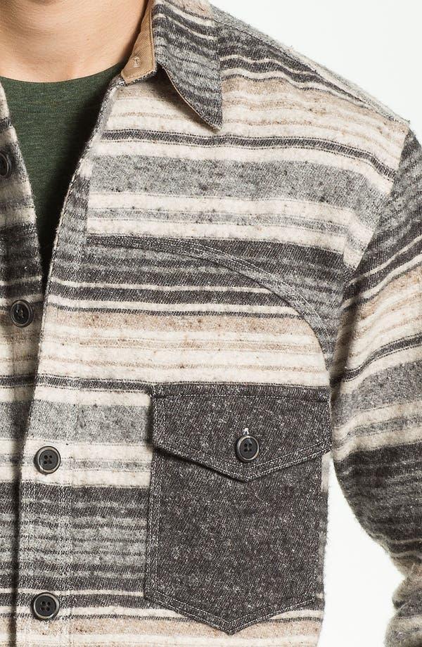 Alternate Image 3  - PRPS Horizontal Stripe Flannel Shirt