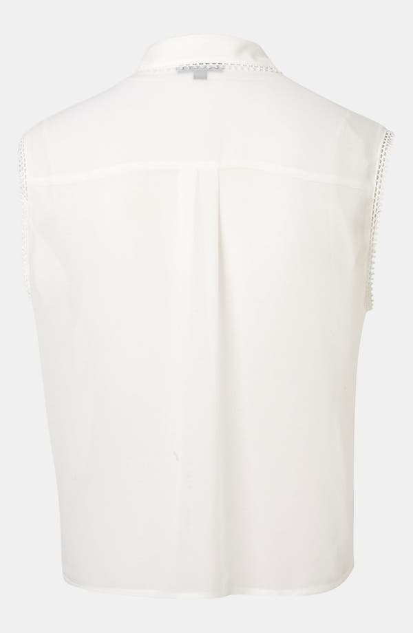 Alternate Image 2  - Topshop Embroidered Cutout Shirt