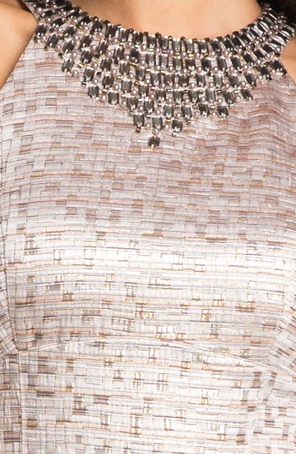 Alternate Image 3  - Maggy London Jewel Yoke Brocade Sheath Dress