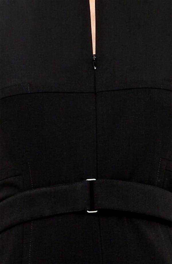 Alternate Image 3  - Akris punto Belted Zip Front Wool Dress
