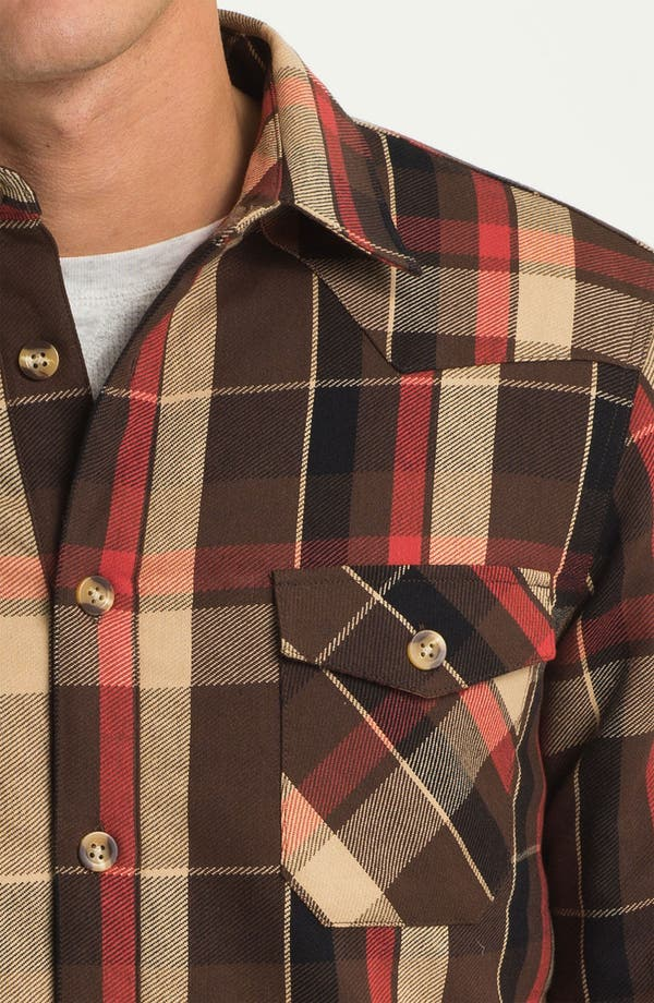 Alternate Image 3  - Public Opinion Plaid Twill Western Shirt