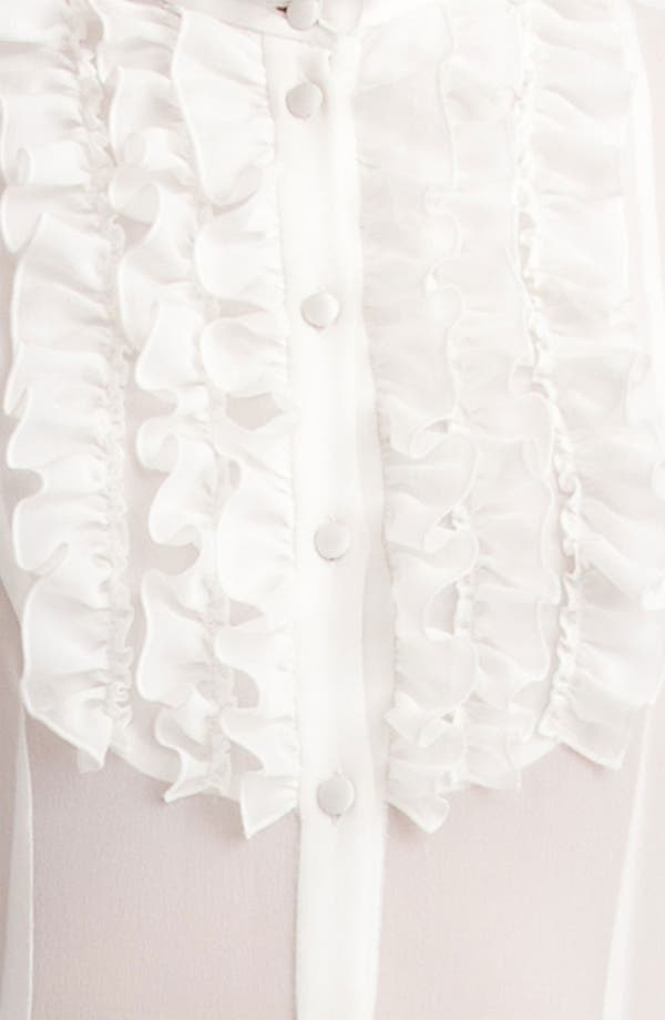 Alternate Image 4  - Dolce&Gabbana Ruffle Front Georgette Blouse