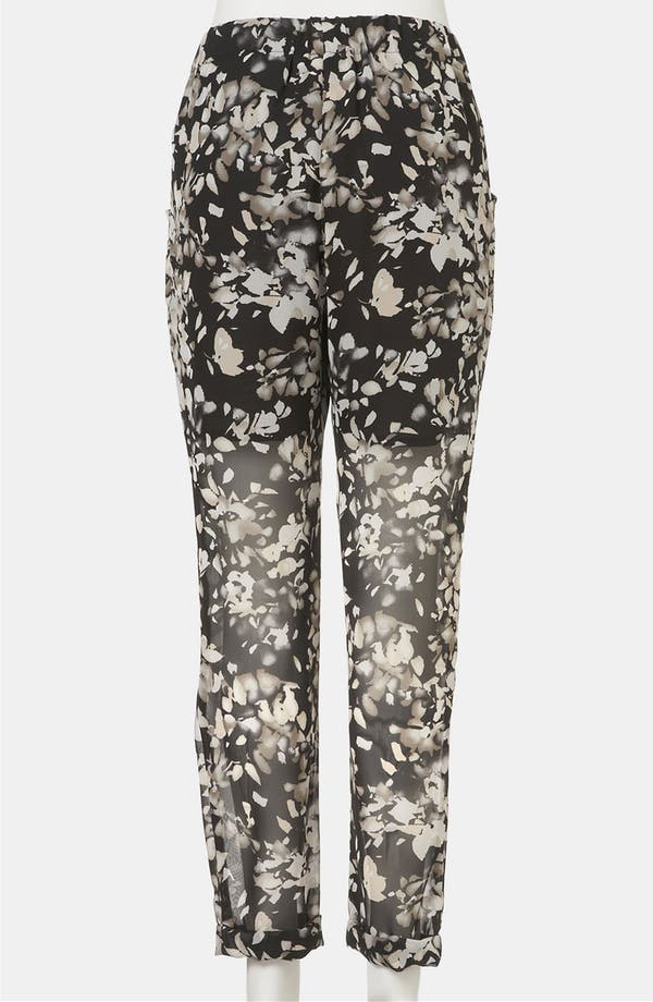 Alternate Image 3  - Topshop 'Shadow Floral' Sheer Chiffon Maternity Trousers