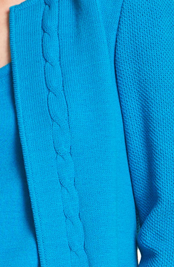 Alternate Image 5  - St. John Yellow Label Piqué Cable Cardigan