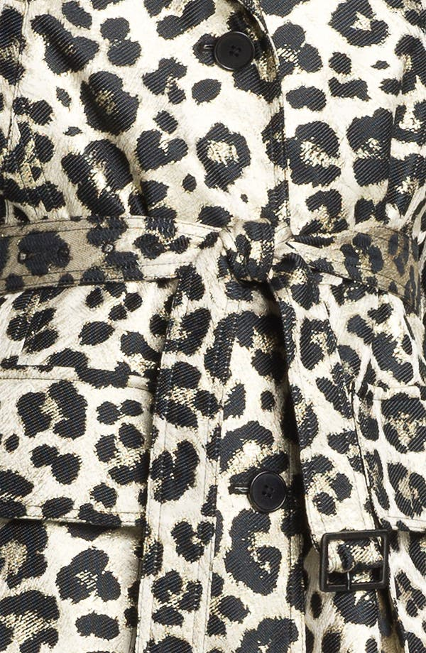 Alternate Image 3  - Alice + Olivia 'Charla' Leopard Print Belted Trench