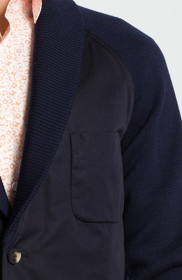 Alternate Image 3  - Salvatore Ferragamo Shawl Collar Sportcoat with Knit Trim