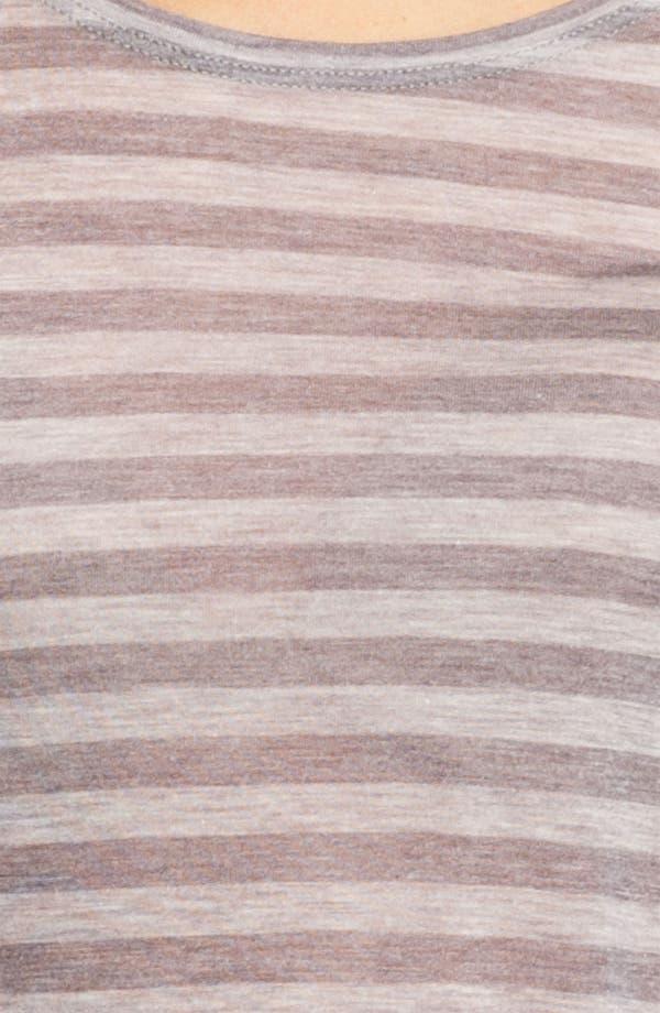 Alternate Image 3  - Eileen Fisher Stripe Micromodal Tee
