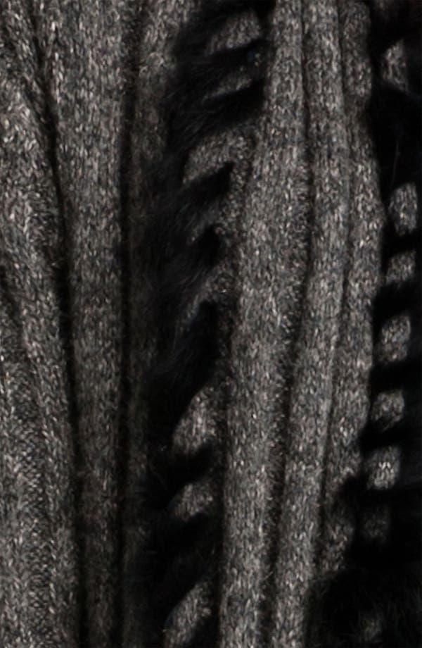 Alternate Image 3  - Alberto Makali Long Cardigan with Genuine Rabbit Fur Trim