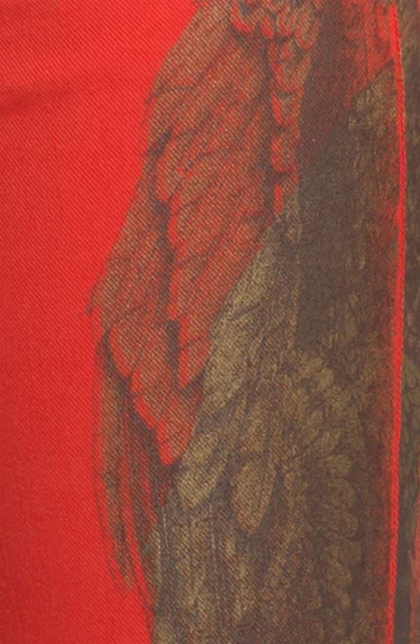 Alternate Image 4  - Haute Hippie Feather Print Skinny Jeans