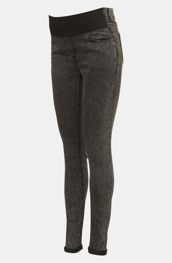 Alternate Image 2  - Topshop 'Leigh' Acid Wash Denim Maternity Leggings