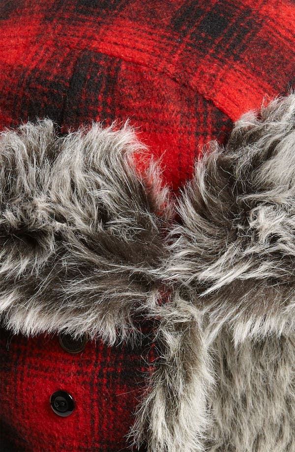 Alternate Image 3  - Free Authority 'Red Buffalo' Plaid Faux Fur Trapper Hat