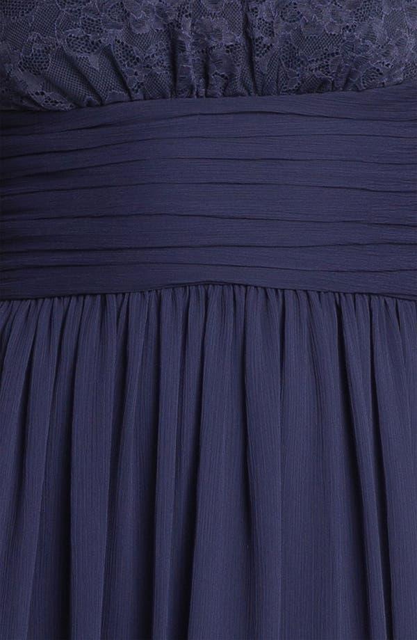 Alternate Image 3  - Max & Cleo Lace Bodice Pleated Chiffon Dress