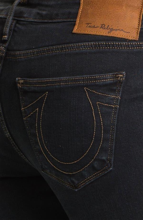 Alternate Image 3  - True Religion Brand Jeans 'Shannon' Studded Pocket Skinny Jeans (Black Stone)
