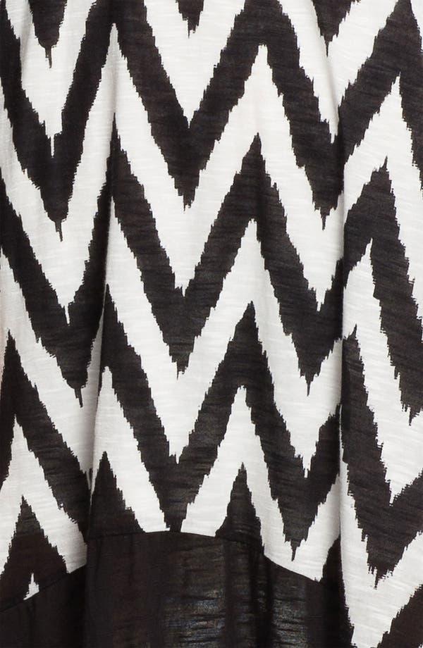 Alternate Image 3  - Ella Moss 'Mazzy' Zigzag Print High/Low Dress