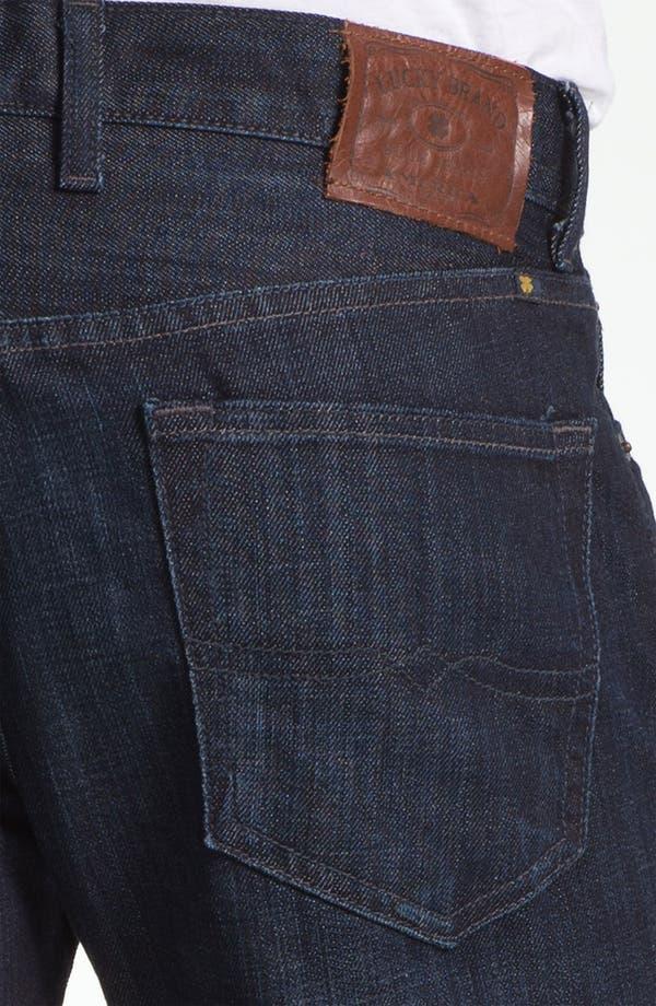 Alternate Image 4  - Lucky Brand 'Dean' Straight Leg Jeans (Dark Kingston) (Online Only)
